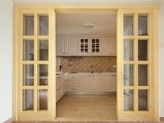 Image result for small kitchen with doors