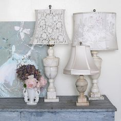 Vintage lamps and lovely shades at www.shabbychic.com and at all RASCC store locations