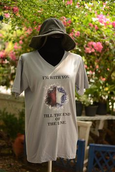 I'm with you till the end of the line t shirt short by chibiQcute, $19.00