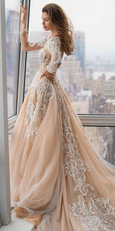 21 Impeccable Winter Wedding Dresses winter wedding dresses princess with long sleeves floral appliques beige pallas couture Wedding Dress Winter, December Wedding Dresses, Beige Wedding Dress, Mori Lee Wedding Dress, Sheath Wedding Gown, V Neck Wedding Dress, Princess Wedding Dresses, Winter Dresses, Winter Weddings