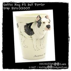 American pit bull terrier mug ceramic handmade dog lover gifts 00007