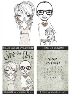 Save The Date @Carrie Minnick. you should have totally done this with your epic drawing skills