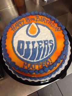 Edmonton Oilers cake Pinterest Cake