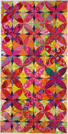 Alabama Beauty blocks, Kaffe Fassett fabric, by Postcards from Panama 2013