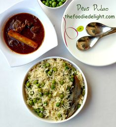 Peas Pulao or Matar Pulao recipe by The Foodie Delight