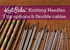 My current needles, Knit Picks Options and Harmony (wood) neeldes Knitting Needles, Knitting Yarn, Hand Knitting, Knitting Patterns, Knitting Supplies, Knitting Projects, Craft Sites, Circular Needles, Yarn Shop