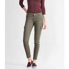 Aeropostale Color Wash Mid-Rise Cargo Jegging ($22) ❤ liked on Polyvore featuring pants, leggings, olive tree, cargo leggings, zipper cargo pants, denim leggings, aeropostale leggings and olive cargo pants