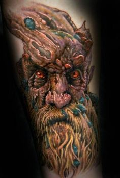 This is the beginning of a Lord of the Rings sleeve I'm starting with Kyle Miller at Cannibal Graphics in Oklahoma City.