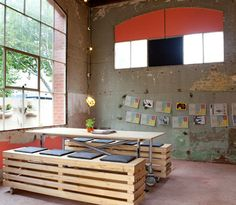love rolling furniture (dining set).  nice big windows too