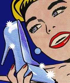 Lovin' her blue sparkly heels  pop art