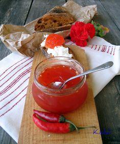 Kisildi: CHILI ZSELÉ Chili, Pesto, Panna Cotta, Pudding, Ethnic Recipes, Desserts, Automata, Food, Red Peppers