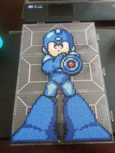 Megaman Perler Art by ~Michahay on deviantART