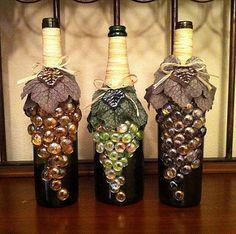 Decorated wine bottles | Flickr - Photo Sharing!
