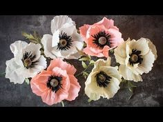 How to Make a Crepe Paper Poppy - YouTube