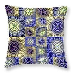 Spiral Design 2 Throw Pillow  http://fineartamerica.com/products/spiral-design-2-sarah-loft-throw-..  #throwpillows #sarahloft #digitalart #digital #abstract