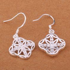 925 чистое серебро серьги, 925 серебро ювелирные изделия, / Aspajjwa cjxalbea E398 купить на AliExpress