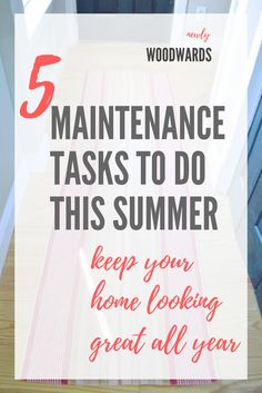 Sometimes, it feels like the work of a homeowner is never really done. Try these maintenance tasks to keep your home looking its best all year. #ad