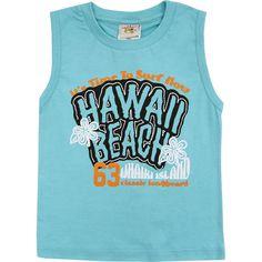 Regata Infantil de Menino Hawaii Azul - Nini & Bambini :: 764 Kids | Roupa bebê e infantil