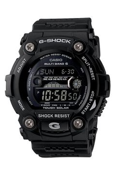 Free shipping and returns on G-Shock 'Solar Atomic G Rescue' Watch, 50mm at Nordstrom.com. Solar-powered watch boasts multiple functions including shock resistance, moon data, tide graph, world time, multiple alarms, stopwatch and more.