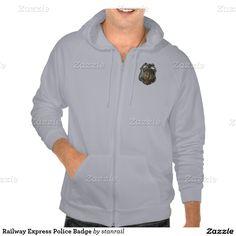 Railway Express Police Badge Hooded Sweatshirts; www.railphotoexpress.biz