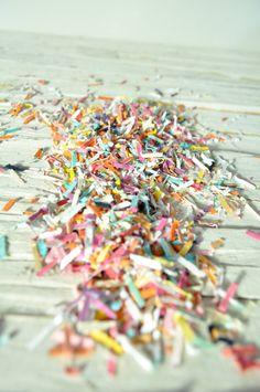 Rainbow confetti paper confetti wedding confetti by lillesyster, $6.00