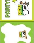 Ben 10 printables from cards, to party printables
