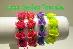 Rose Garden Bracelet for Spring. Pattern designed by Rainbow Loom   ♥Subscribe YouTube Channel:  https://www.youtube.com/user/ElegantFashion360  ♥ Sing up for Newsletter: http://elegantfashion360.com