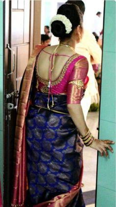 Wedding Saree Blouse Designs, Pattu Saree Blouse Designs, Blouse Designs Silk, Designer Blouse Patterns, Dress Neck Designs, Saree Blouse Patterns, Kids Blouse Designs, Sumo, Blouse Models
