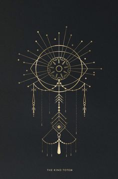 LINE ART | THE KIND TOTEM by Cocorrina #design #illustration #totem #gold / Sacred Geometry <3