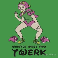 Snow White brings the whistle factor. | Disney Princesses Twerking Will Shatter Your Childhood  #humor #laugh #fun