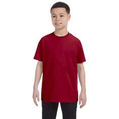 Gildan Boys' Cardinal Heavy T-shirt