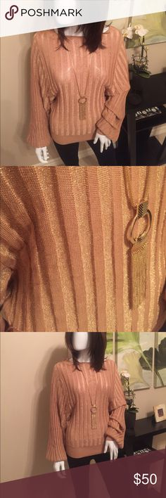 Bebe , Gold Top Super cute gold loose fitting top.  Tag was removed because it was irritating 🙂 bebe Tops