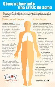 Infografía: Cómo actuar ante una crisis de #asma.  #salud y #bienestar