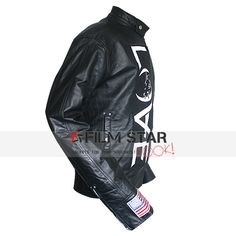 Special offer 2015 Veterans Day happening sale on Tom Delonge Angels and Airwaves Jacket along with US flag on right cuff buy this exceptional leather outfit at famous online Filmstarlook shop, worldwide shipping also free.