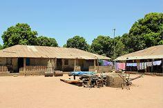 The mud brick houses of Kanuma village