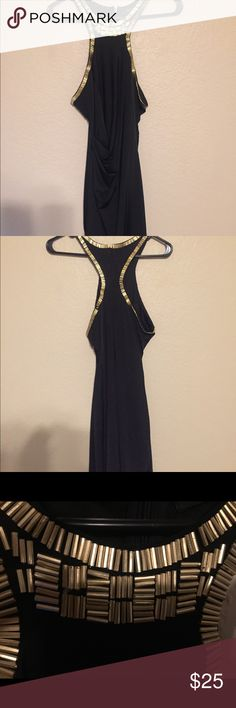 Black and Gold Beaded Dress- HOT! Black and Gold Beaded Dress- HOT! Ark & Co Dresses Mini