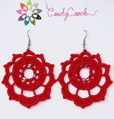 """Boucles d'oreilles au crochet """"Les Galaxies"""" par CandyCroch', €15,00"""