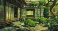 The Wind Rises - Miyazaki Studio Ghibli Background, Animation Background, Art Background, Seshomaru Y Rin, The Garden Of Words, Casa Anime, Wind Rises, Traditional Japanese House, Anime Scenery Wallpaper