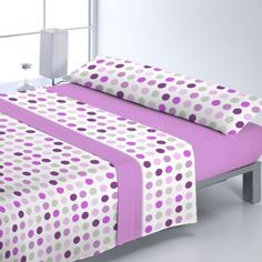Juego Sábanas Pirineo TOKEN Reig Marti Bed Cover Design, Indoor Outdoor Furniture, Shades Of Purple, Bed Covers, Bed Spreads, Luxury Bedding, Bed Sheets, Mattress, Print Patterns