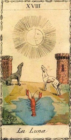 The Moon - Ancient Tarot of Lombardy