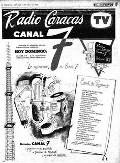 PUBLICIDAD RETRO DE RADIO CARACAS TV AÑOS 60