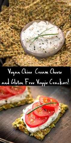 "Raw, Vegan Gluten Free Veggie Crackers with Chive ""Cream Cheese"" Recipe! @Rawmazing.com"