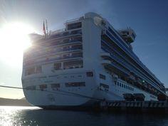 Sapphire Princess docked.