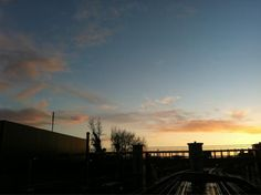 April sunset over Thameslink (via Collins) Fashion Project, Celestial, Sunset, Outdoor, Outdoors, Sunsets, Outdoor Games, The Great Outdoors, The Sunset