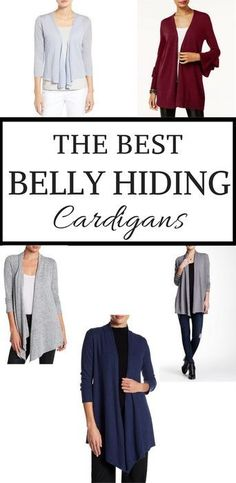 6c87c0a1c857 Find out which women's cardigans hide belly fat best. Cardigans help with  hot and cold moments and keep your stomach camouflaged and covered well.