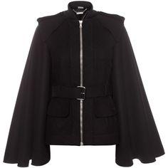 ALEXANDER MCQUEEN Jackets & Coats Belted Cape Jacket