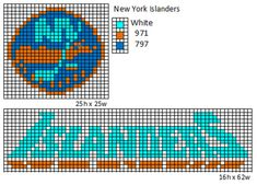 Here is patterns for the logos and name plates for the current teams of the NHL. If anyone would like the patterns for any of the teams tha. Native Beading Patterns, Bead Loom Patterns, Perler Patterns, Cross Stitch Patterns, Geometric Patterns, Knitting Charts, Knitting Patterns, Crochet Patterns, Nhl Logos