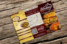 Indian Restaurant Boxed Lunch Menu by wowitisdesign