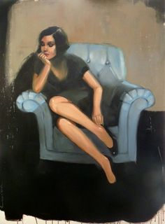 "Saatchi Online Artist Pascale Taurua; Painting, ""The blue chair"" #art"
