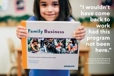 """On-site child care, especially for infants, is a critical element of doing business in our time—and it's proven to be good for business.  Pre-order your copy of """"Family Business,"""" a book that illustrates what high-quality child care looks like and why providing on-site child care to working families is at the heart of responsible business today."""